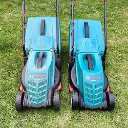 Der alte und der neue Rasenmäher